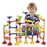 BATTOP Marmor Laufen Eisenbahn Spielzeug Marmor Laufen Coaster Eisenbahnbau Kind Bausteine DIY Spiel für Mehr als 4 Jahre Alten Kinder