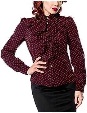 yD - Camisas - Básico - cuello mao - Manga Larga - para mujer