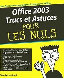 Office 2003 trucs et astuces pour les nuls