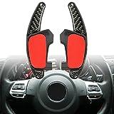 YONGYAO Car Gear Shift Acero Anillo Extensión De La Rueda del Pedal De Fibra De Carbono para VW Golf Mk7 GTI GTD