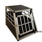 Vivo© Small Aluminium Folding Dog Pet Carrier Crates Cages Puppy Small Medium Large Extra Large XX-Large Pet Carrier Training Vet Cage Foldable Car Van Metal Playpen