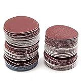 100unidades 2pulgadas 50mm Palisandro Disc 80hasta 3000Grit lazos Disco pulidor lija