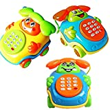 timeracing Lovely Kids Baby Sound Toys Music Car Cartoon Buttons Phone Educational Intelligence Developmental Toy