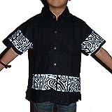 Chemise enfant tribal polynésien - 5/6 ans, Noir d'occasion  Livré partout en France