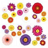 I-love-Wandtattoo Pegatina de Pared Set para Sala de Estar Flores de Colores para Pegar Mural Pegatinas