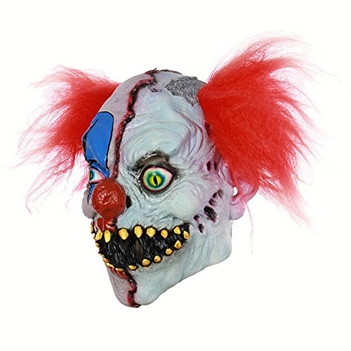 Halloween mask Yves25Tate Horror Rotten Gesicht Clown Latex Ghost Maske Haunted Haus Dressing Kopf Cover Ghost Party Maske für Halloween-Requisiten