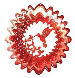 Iron Stop 1185-12-7A 30 cm große klassische Kolibri Windspiel, Rot