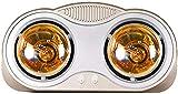 LNDDP Riscaldatore Elettrico per Sauna a Parete, riscaldatore Elettrico per Bagno Impermeabile Portatile con Tre lampadine a infrarossi IC, Senza Ventilatore, Protezione da surriscaldamento, 550W