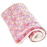 anbiwangluo Coperte per cani e gatti Pet Sleep Soft 4SIZE 3Color (Pink, L)