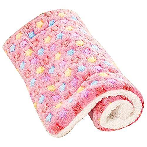 anbiwangluo Hund u. Katze-Decken für Haustier-Schlaf weiches 4SIZE 4Color (M, Rosa) -
