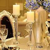 XQY Retro Kerzenhalter Dekoration Kerzenhalter Künstliche Kristall Material Romantische Mode Haushaltsgegenstände Zwei Größen,9 * 34cm