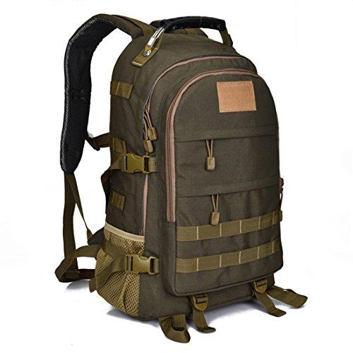 Rucksack, Multifunktionale Daypack Taktischer Rucksack Trekkingrucksack Laptop Rucksack Wasserdichter Rucksack Kampfrucksack Reiserucksack Sportrucksack mit der großen (Armeegrün)