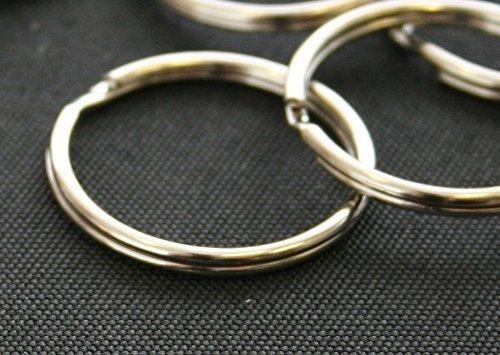 Split Key Ringe 25mm 2,5cm vernickelt Stahl (50Stück)