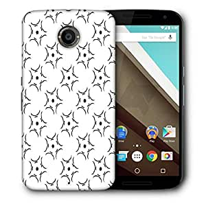 Snoogg Abstract Pattern White Printed Protective Phone Back Case Cover For LG Google Nexus 6