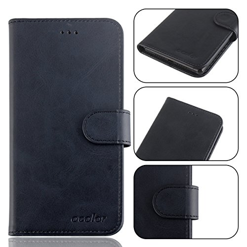 95Street Handyhülle für Leagoo S9 Schutzhülle Book Case für Leagoo S9, Hülle Klapphülle Tasche im Retro Design mit Praktischer Aufstellfunktion - Etui Schwarz