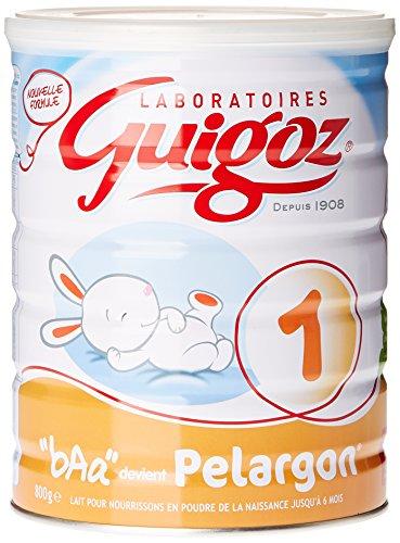 GUIGOZ Pelargon 1 - Lait infantile 1er âge en poudre - de 0 à 6 mois - 800g - Lot de 3 boîtes de 800g