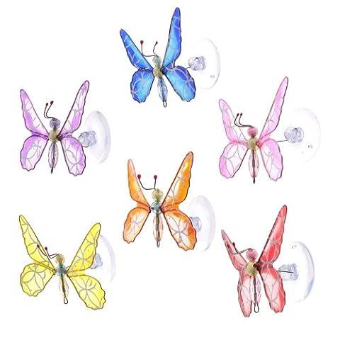 Glitter Butterfly Window Sucker