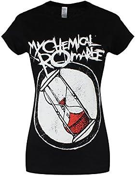 Camiseta ajustada reloj de arena de My Chemical Romance (Negro)