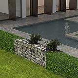 Xingshuoonline Gabionenkorb/Pflanzkasten/ Gemüse-Hochbeet Stahl Gitterzaun Zaun 150x30x50 cm