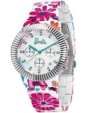 Barbie Damenuhr Leder Armband Kupfer Armbanduhr Quarz Analog Uhr Schwarz