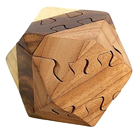 ShalinIndia main Puzzle Jeux magiques DIAMOND en bois 3D scie sauteuse 6 CM 158 Gram