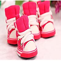 WSS Caramelle colorate cani tela scarpe scarpe scarpe forte anti-scivolamento resistente antiscivolo animali scarpe . 3