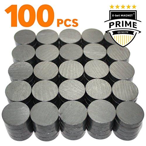 X-bet MAGNET™ sono magneti industriali in ceramica - Rotondi18 mm - Magneti in Ferrite all'ingrosso per artigianato, scienza e passatempo — 100 pezzi/scatola!