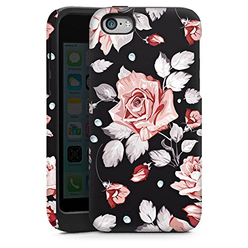 Apple iPhone 5c Housse Étui Protection Coque Roses Roses Roses Cas Tough brillant