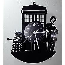 Reloj de vinilo de pared LP 33RPM Instant Karma Idea regalo Vintage Handmade–Movie Serie TV–Doctor Dr Who