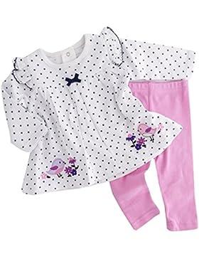 NEU | Set Shirt weiß Punkte Vogel und Leggings rosa | 56 62 68 74