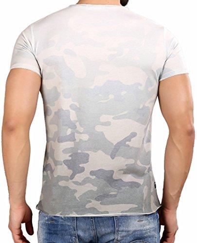 Red Bridge Herren T-Shirt Wild Tiger Camouflage Kurzarm Weiß (Khaki)