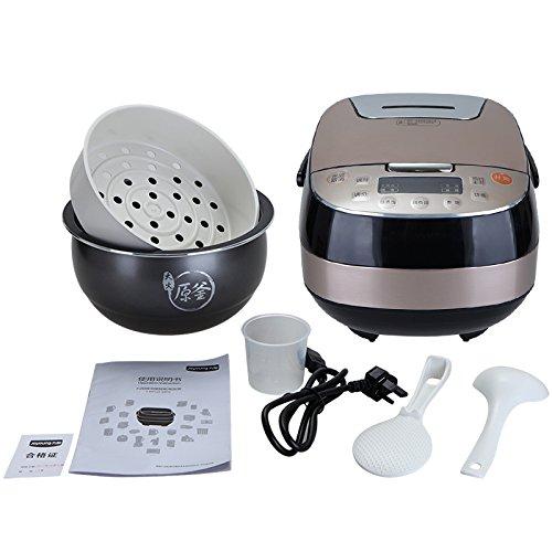 WYBW Cuiseur à Riz, cuiseur à Riz Multifonctions Maison Intelligente, Cuisinière en Terre Cuisinière à Riz intérieure Originale, cuiseur à Riz Domestique 4L,comme montré,Taille Unique WYBW
