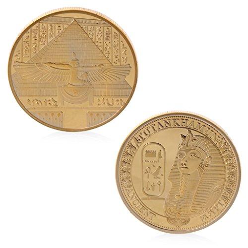 4 - Fugift Chapado en Oro Antiguo desafío conmemorativo de Tutankamon Recolección de Monedas Recuerdo