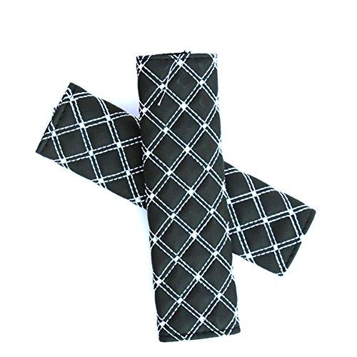Rommaner 1 paire de cuir PU couvertures de ceinture de sécurité de voiture couvertures de coussinets d'épaule Mode durable pour ceinture de sécurité Coussinets pour voitures