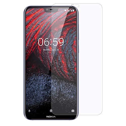 """XunEda Nokia 6.1 Plus 5.8"""" Pellicole Protettive, Ultra Resistente 9H Durezza,0.3mm HD Pellicola Vetro Temperato Screen Protector per Nokia 6.1 Plus smartphone-1 Pack"""