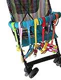 TININNA 7 Stück Sicherheitsgurt sichert Spielzeug Beißring oder Schnuller für Kinderwagen Verstellbare Baby Kleinkind Secure-A-Toy Sicheres Zubehör