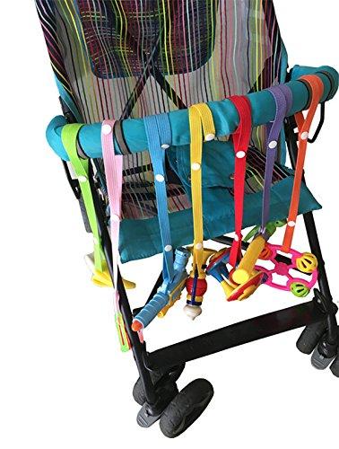 Preisvergleich Produktbild TININNA 7 Stück Sicherheitsgurt sichert Spielzeug Beißring oder Schnuller für Kinderwagen Verstellbare Baby Kleinkind Secure-A-Toy Sicheres Zubehör