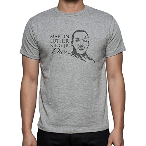 Martin L King Day Black And White Herren T-Shirt Grau