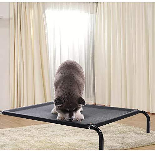 WQ Kühles erhöhtes Hundebett, Campingbett für Haustiere, tragbares Hochbett für Haustiere, waschbares und atmungsaktives Mesh,M