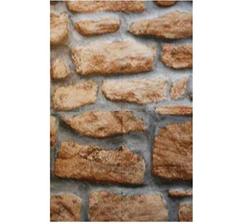 Möbelfolie Design Naturstein - Mauer - 90 cm x 200 cm Selbstklebefolie mit Stein Motiv Elementen - dekorative selbstklebende Folie (Dekorative Elemente)