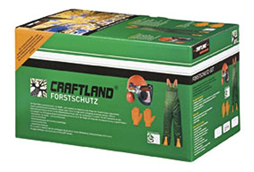 Preisvergleich Produktbild Craftland - Forstschutz-Set Latzhose / Helmset / Handschuhe