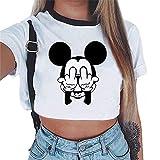 Flyself Riverdale Crop Top T-Shirt Estate Donna Canotta Maniche Corte Collo Rotondo Maglietta Moda Magliette Tumblr Ragazza