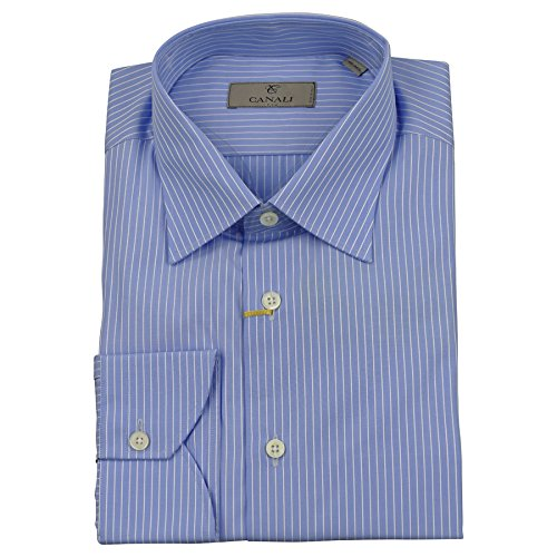 canali-mens-shirt-blue-white-thick-stripe-cotton-bnwt-uk-42-165-made-in-italy