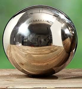 G niale boulle de jardin 39 galaxy 39 acier inox m tal deco for Boule metal deco jardin