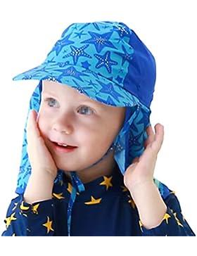 Fletion 360 Grad Sonnenschutz Sonnenhut Nackenschutz Ohrkappe UV Schutz Kappe Fischerhut für Kinder Jungen Mädchen