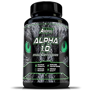 Testosterone Booster Alpha 1.0 - an Advanced Testosterone Supplement - Test Booster Made in The UK - High Quality Testosterone Boosters Guaranteed - Includes Free Workout Program