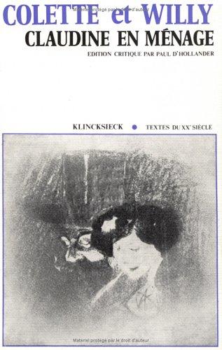 Claudine En Menage (Hors Collection Klincksieck) - Claudine Collection