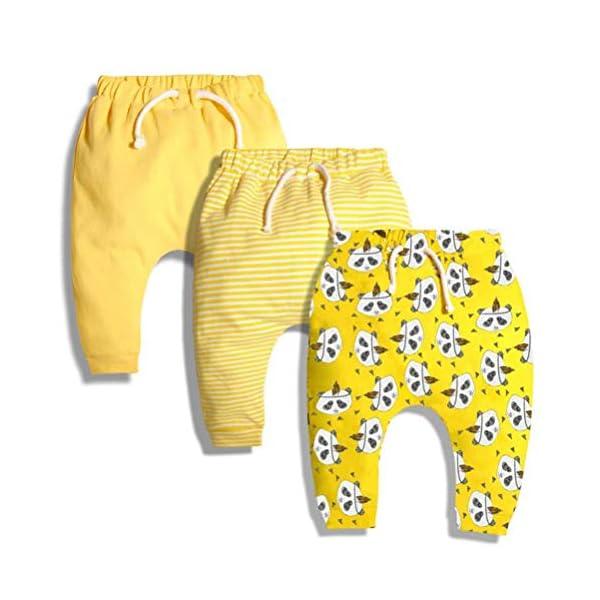 CuteOn 3 Paquete Unisexo Niños Niñito Harén Pantalones Algodón Elástico Pantalones 1