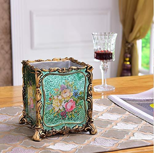 Europäische retro stifthalter American pastoral hause kamm make-up pinsel rohr mode ornamente wohnzimmer fernbedienung aufbewahrungsbox grün metall -