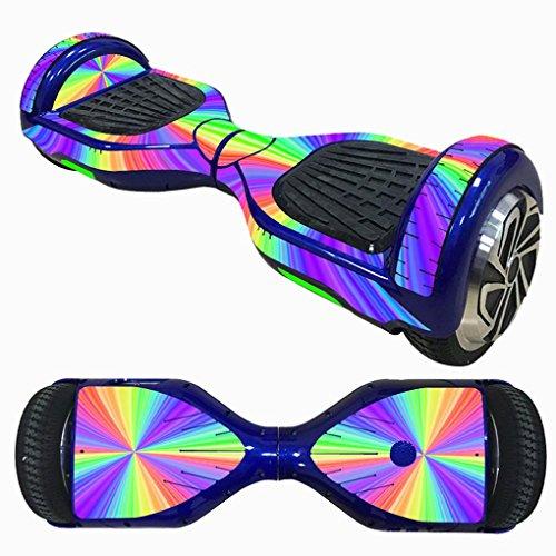 6.5 Zoll Selbstausgleichende Scooter Zweirad Roller Haut Schwebeflug Aufkleber Elektro-Skateboards Board Schutzfolie Sticker Aufkleber (B)